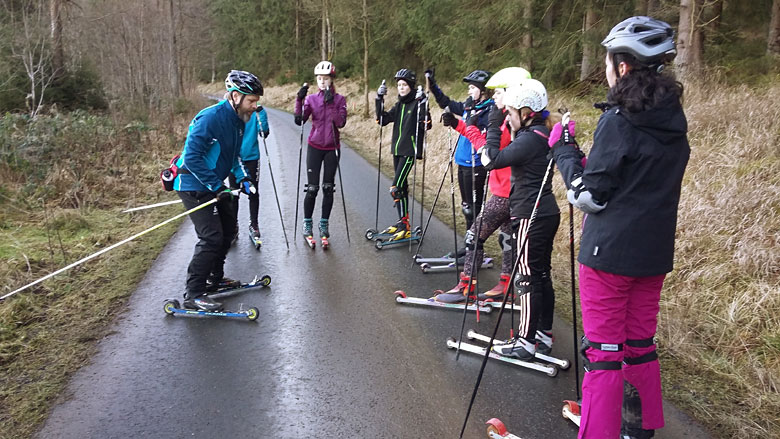 Trainingslager der Ski-AG