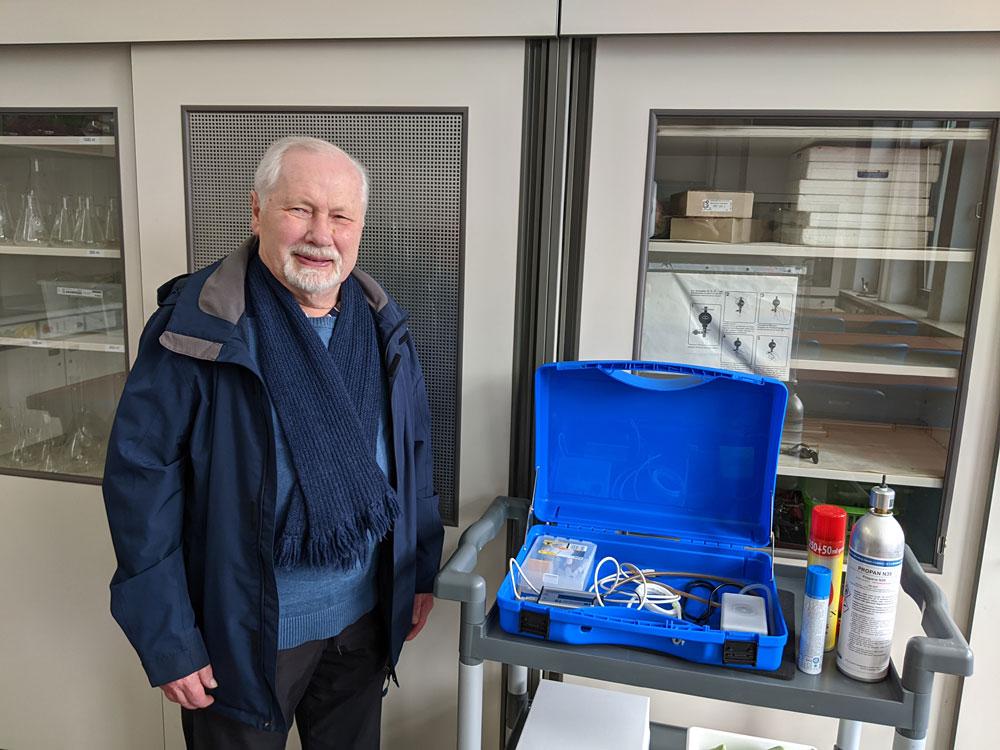 Garzmann-Stiftung fördert den Chemieunterricht