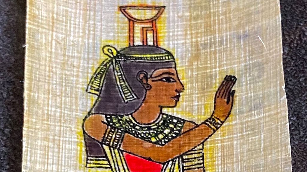 Lesezeichen aus Papyrus