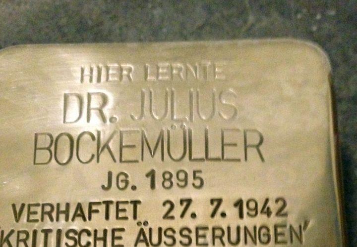 Stolperstein für Dr. Julius Bockemüller