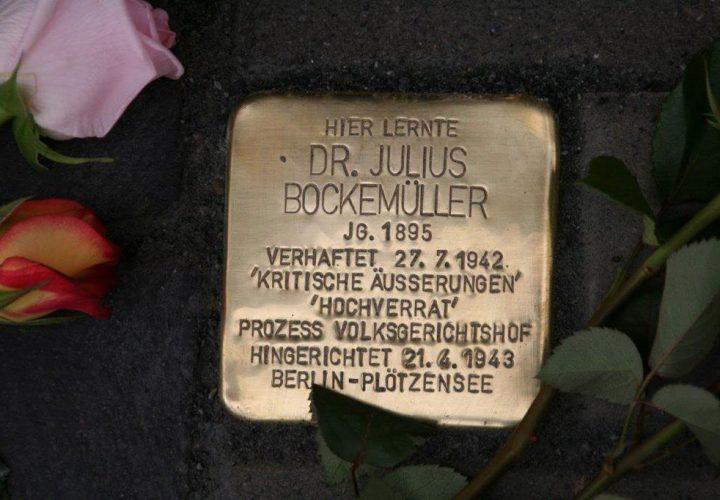 Stolperstein für den Sickter Arzt Dr. Julius Bockemüller